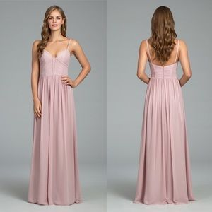 Hayley Paige Occasions Ruffle Detail Chiffon Gown